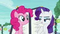Rarity --I will stay here and distract Maud-- S6E3