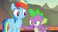 """Spike """"I beat you down the ridge"""" S7E25"""