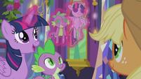 Twilight levitates Twilight and Spike dolls S5E20