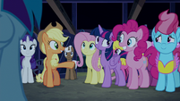 """Applejack """"you can thank Pinkie Pie"""" S6E15"""