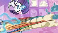 Rarity bowled over by Dishwater and Rainbow PLS1E2b