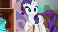 Rarity looking over at Twilight Sparkle S8E16