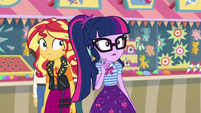 Twilight looking at Flim and Flam's booth EGROF