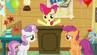 """Apple Bloom """"figure out how to get two more cutie marks"""" S5E4"""