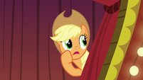 Applejack calling out to Flim S6E20
