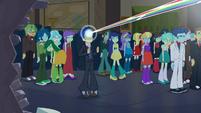 Flash Sentry hit by rainbow light EG