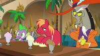 Milkshakes appear before Spike, Mac, and Discord S8E10