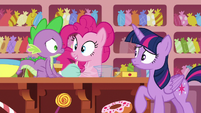 Pinkie Pie --so I figured I'd throw them-- S6E22