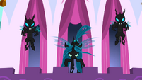 Queen Chrysalis about to fly S2E26