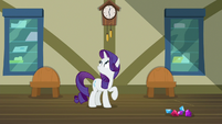 Rarity notices Spike and Gabby are gone S9E19