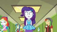 Rarity surrounded by rainbow-haired students EGDS12b