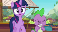 Spike about to explode in anger S6E22