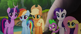 Spike pointing toward the south MLPTM