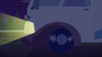 Close-up on RV's left front wheel EGSBP