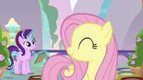 Fluttershy nodding at Starlight with approval S9E20