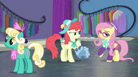 Hipster Fluttershy insulting Mare E. Belle S8E4