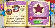 Junior Deputy album page MLP mobile game