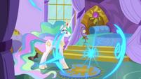 Luna teleports out of Celestia's bedroom S9E13