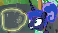Princess Luna looks at novelty mug S9E13