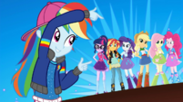 Rainbow Dash pointing at her friends SS13