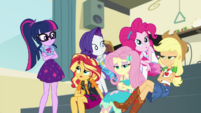 Twilight and friends surprised by Zephyr Breeze EGDS5