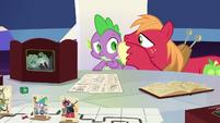 Big Mac whispering to Spike again S6E17