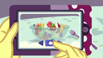 Fruit salad on Vignette's phone EGROF