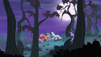 Ponies chase after Flutterbat S4E07