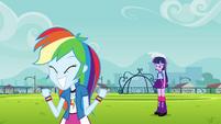 Psyched-up Rainbow and sad Twilight EG