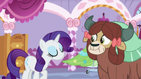 "Rarity heavily articulates ""how kind of you"" S9E7"