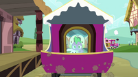 Spike and Angel on the moving train S03E11