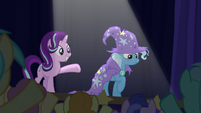 Starlight presents Trixie to the crowd S6E6