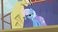 Trixie about to zap Rainbow Dash S1E06