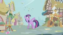 Twilight tells Rainbow to distract the parasprites S1E10