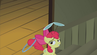 Apple Bloom walking up the stairs S2E06