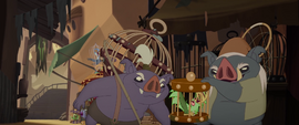 Klugetowners catch the bird in a cage MLPTM