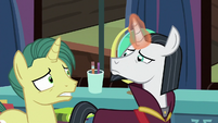 Neighsay and unicorn looking worried S9E25