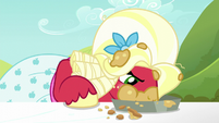 Orchard Blossom scarfing down a pie S5E17