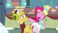 Pinkie Pie singing next to Grand Pear MLPBGE