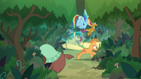 Ponies and students run all over the place S8E9