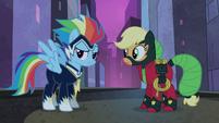 Power Ponies Rainbow Dash and Applejack S4E06