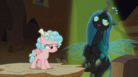 Queen Chrysalis enters the spotlight S9E8