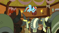 Rainbow Dash -her very first time here- S8E18