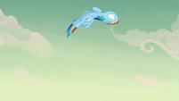 Rainbow Dash looping through the air S7E18