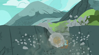 Rockhoof digs to the edge of the cliff S7E16