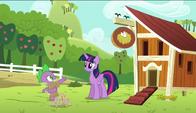 S06E10 Spike i Twilight przy kurniku
