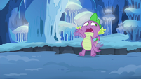 Spike about to fall into the chasm again S6E16