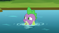 Spike floating in the river S8E24