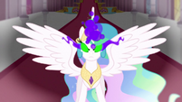 Celestia using dark magic S3E2