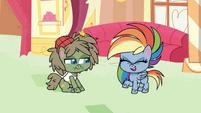 Rainbow Dash laughs at Dishwater Slog PLS1E2a
